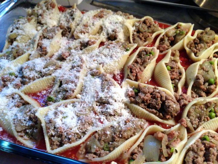 Conchiglioni farcies aux aubergines - Dressage des plats en cuisine ...