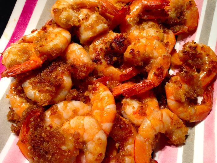 Crevettes panées sauce worcestershire