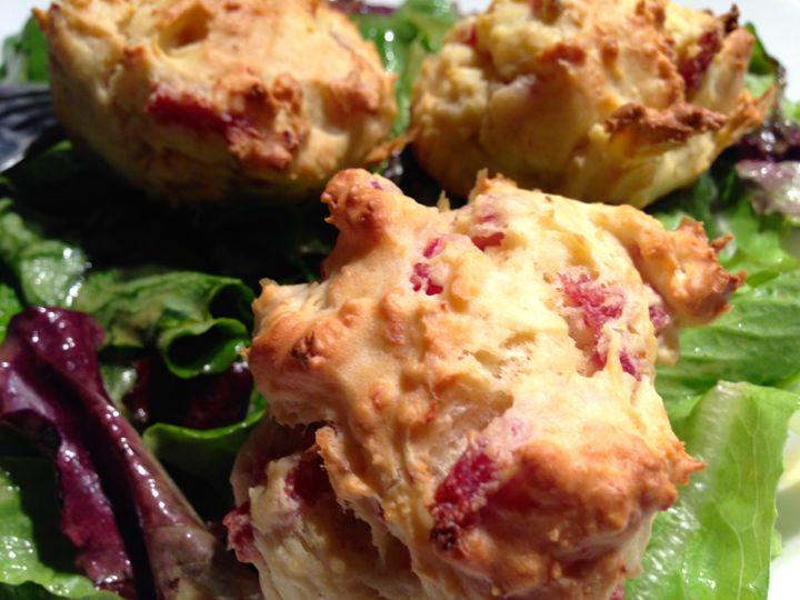 Muffins croustillants Ricotta et Bacon