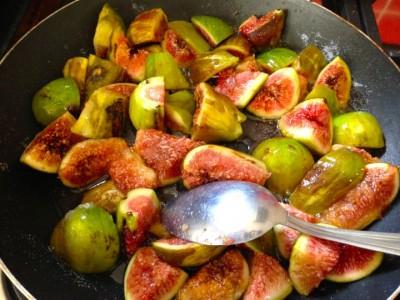Tarte aux figues caramélisées au miel