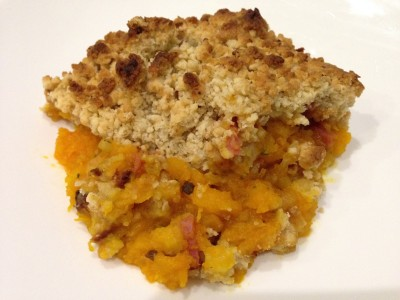 Crumble de Potimarron au bacon et parmesan