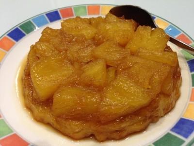 Tarte tatin à l'ananas frais