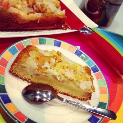 Gâteau renversé Poire Amandes