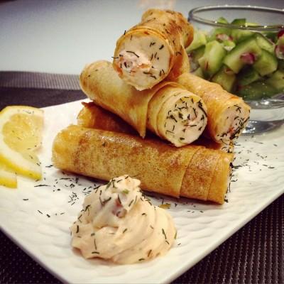 Tubes Mascarpone et saumon