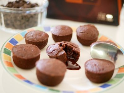 Bouchées coulantes au chocolat