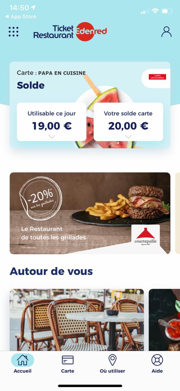 Payer en Tickets Restaurant avec son smartphone